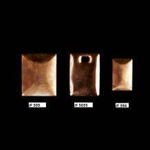Flan en cuivre bombé 36x22mm