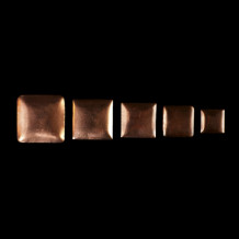 Curved copper flan 30x30mm