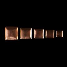 Curved copper flan 3,5 cm x 3,5 cm