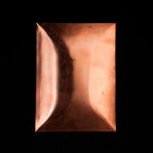Plaque de cuivre bombée
