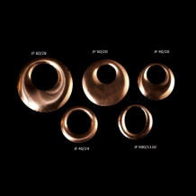 Curved copper flan 40 mm