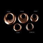 Curved copper flan 50 mm