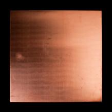 Plaque de cuivre plate